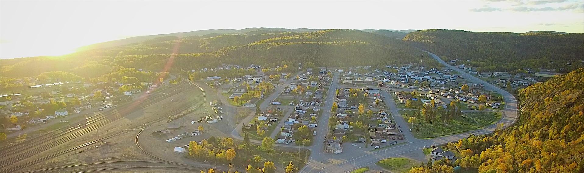 Aerial shot of Schreiber in the summer