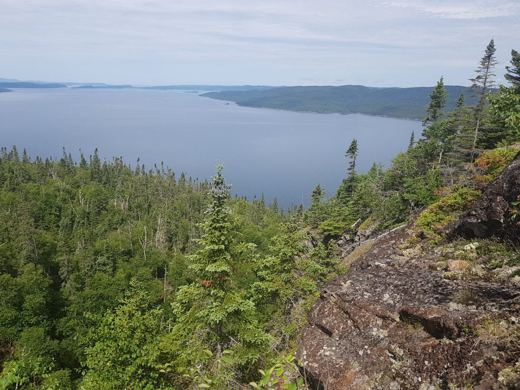 Hiking lookout, over looking Lake Superior