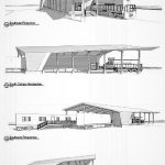 Concept sketch of a train being used as a museum