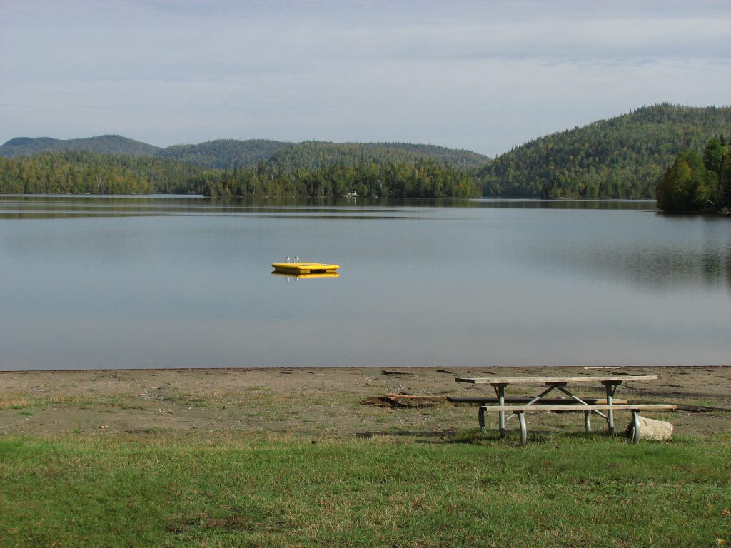 View of White sand Lake