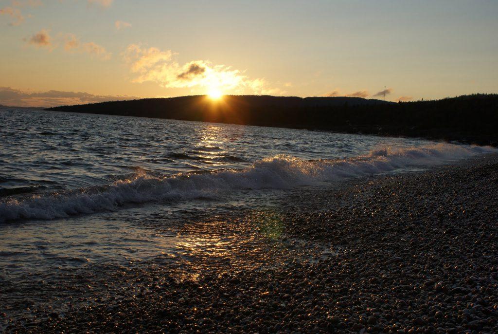 Sunset at Schreiber Beach