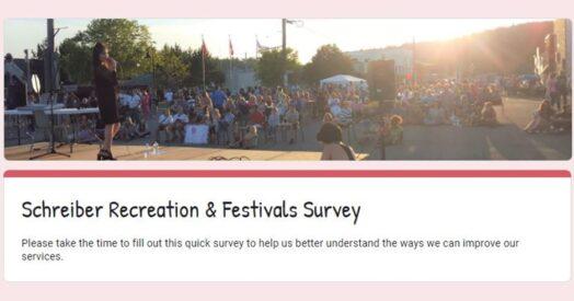 Schreiber Recreation & Festivals Survey